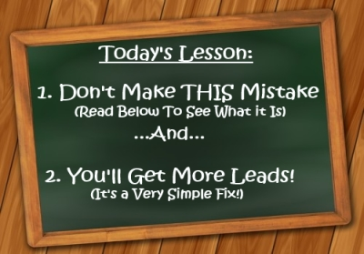 Lead Generation Marketing Mistake